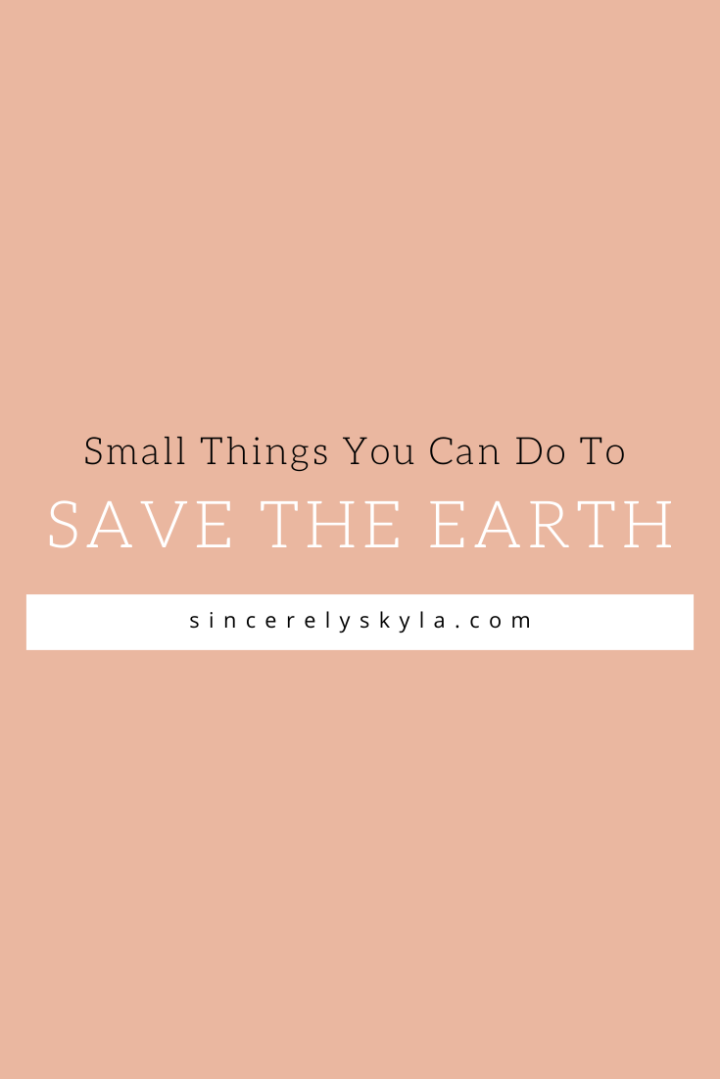 Small Things You Can Do To Save The Earth